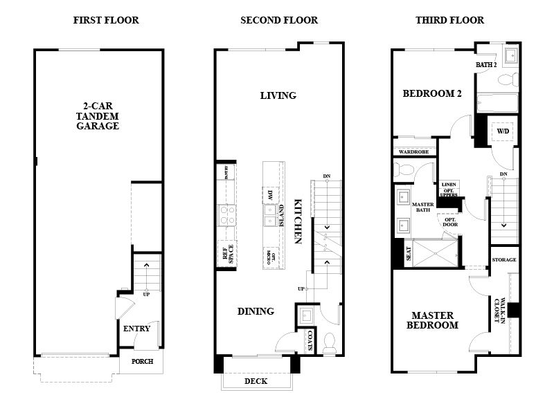 Oakland Ice House Solar All Electric Homes – Venture Homes Floor Plans
