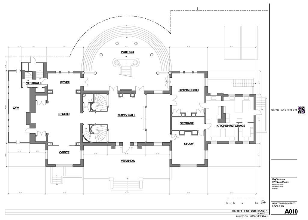 Historic Merritt Mansion Pasadena Homes – Venture Homes Floor Plans