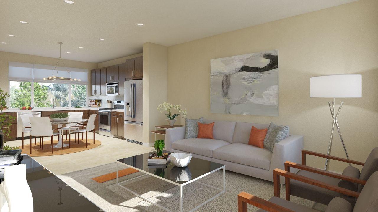 Montebello - Living Room & Kitchen