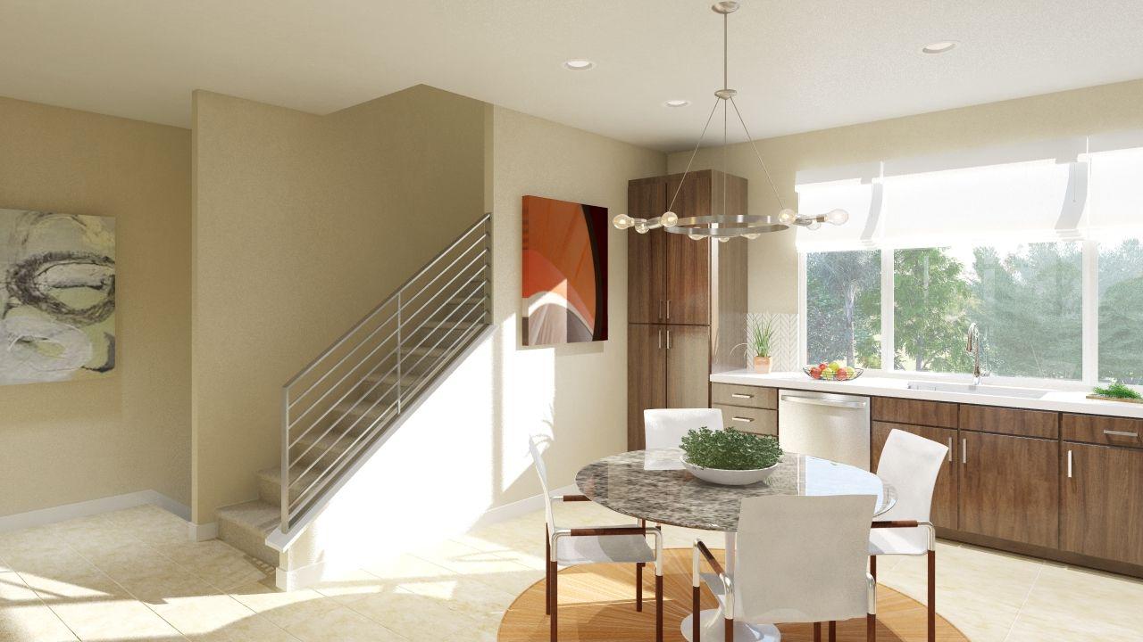 Montebello - Kitchen & Stairs View