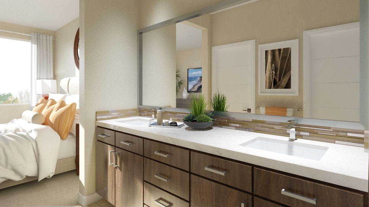 Montebello - Master Bathroom Viewing Master Bedroom