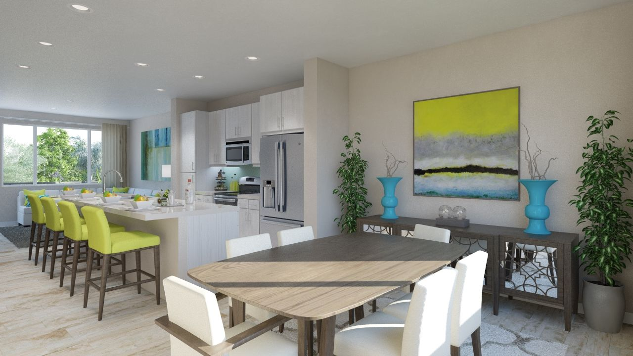 Montebello - Dining Room With Kitchen View
